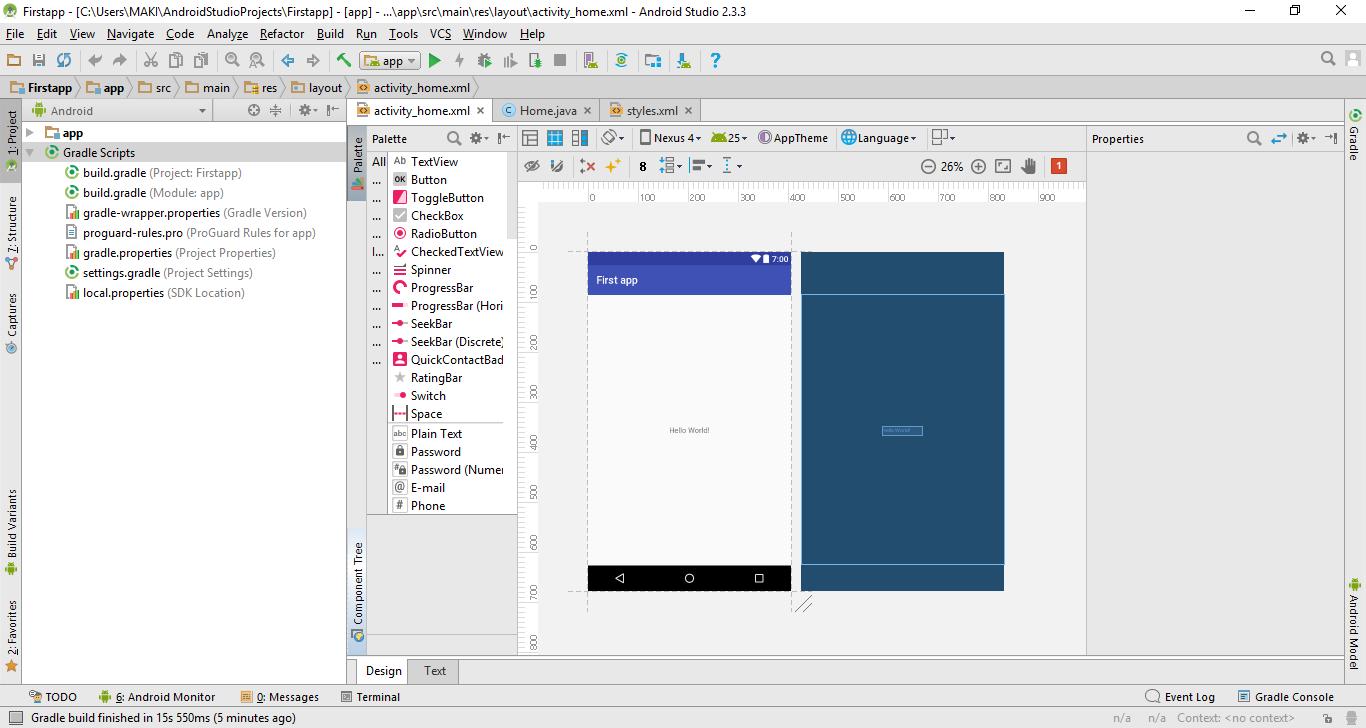 إحترف Android Studio من الصفر و حتى الإحتراف  الجزء الخامس