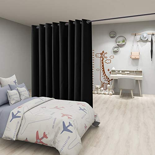 A Privacy Bedroom with Curtains