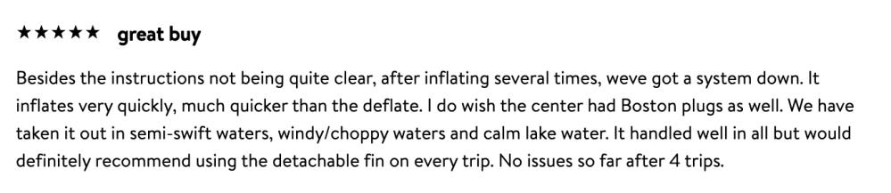 intex kayak reviews