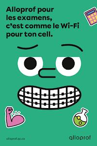 Affiche Alloprof Wi-fi - Pour les élèves du secondaire - Maximum 1 affiche par classe et 40 par commande