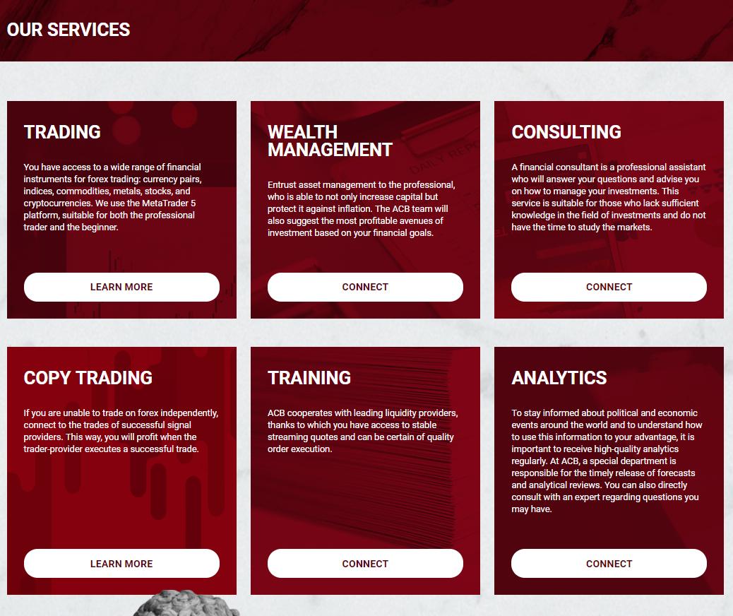 ACB Service – очередной мошенник на Форексе или достойный финансовый посредник? Обзор торговой площадки с отзывами трейдеров