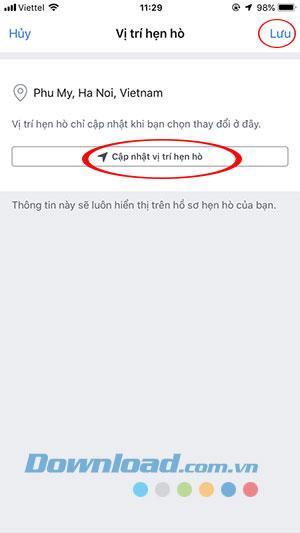 Mẹo hay giúp bạn thay đổi vị trí hẹn hò trên Facebook