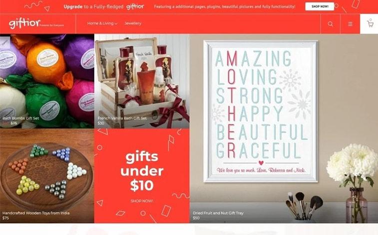 лучший бесплатный шаблон темы ботстрапа подарок для веб-сайта подарки магазин-электронная коммерция