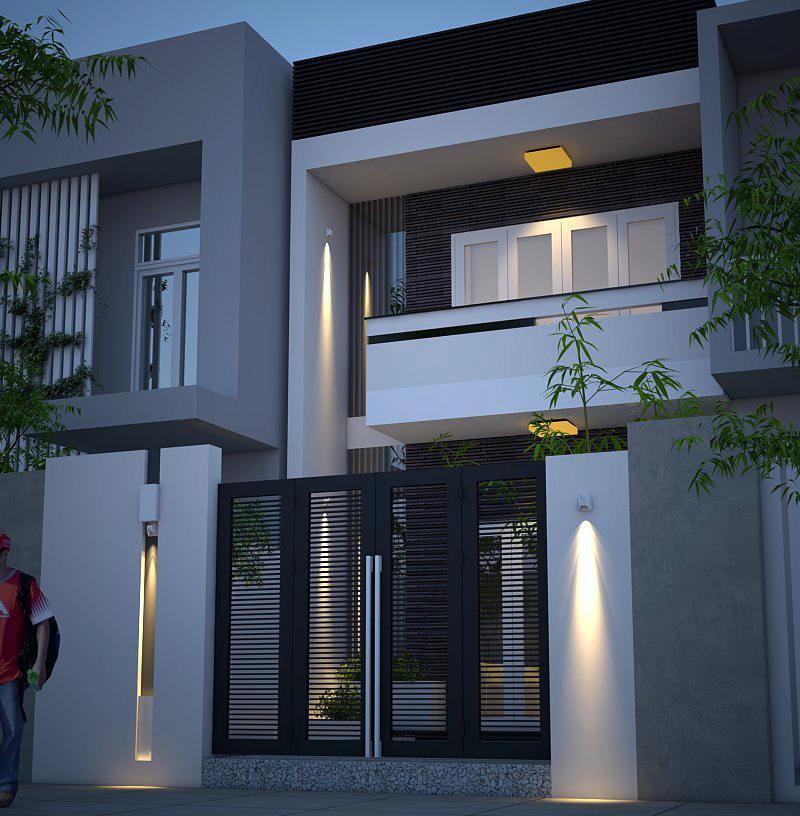 Một mẫu nhà 2 tầng khá đẹp và hiện đại