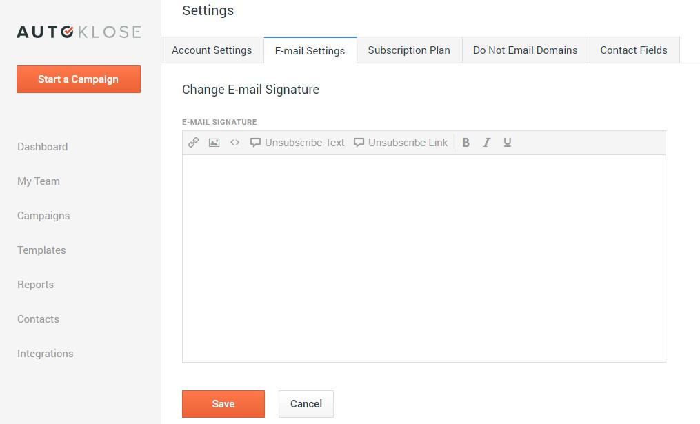 Update your Email Signature using Autoklose.com