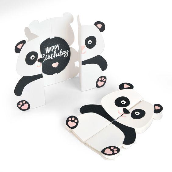 熊貓生日卡