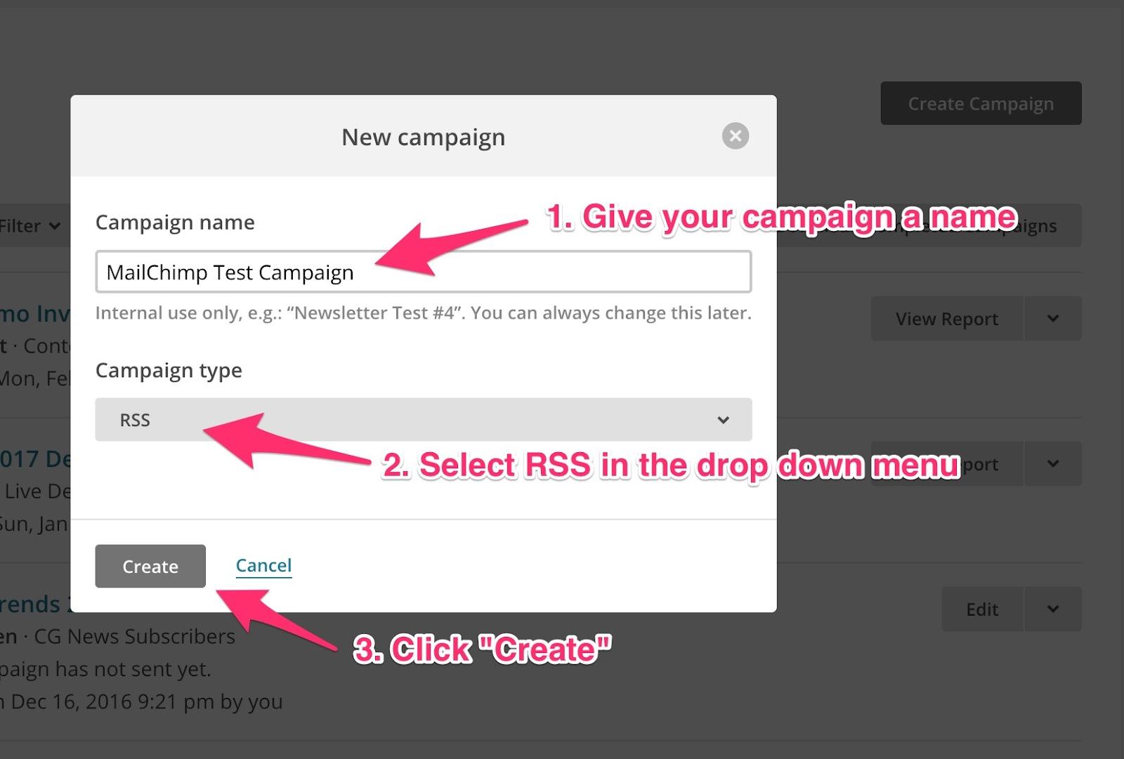 MC Create RSS