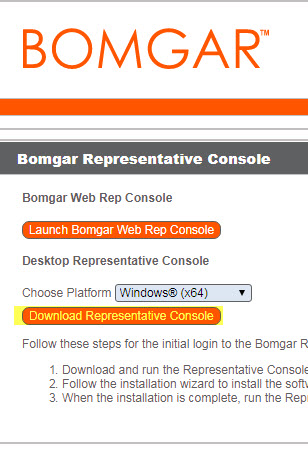 bomgar remote support tool it customer support pcc spaces