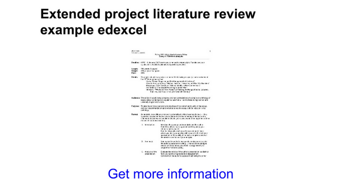 Help doing a literature review