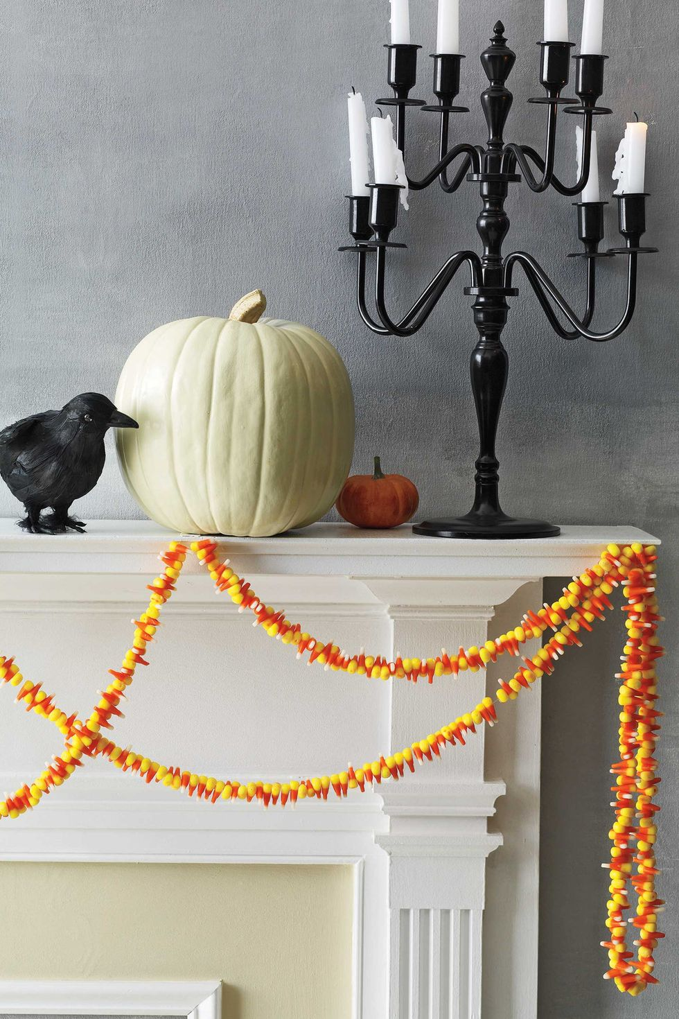 Candy Corn Garland: These 30 DIY Halloween Decorations That Are Wickedly Creative will save you money and allow your creativity to flourish