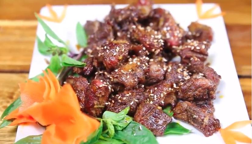 Hồng Ngọc Foody: Thịt dải lợn nướng