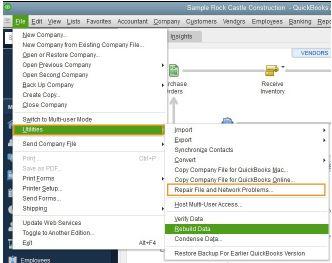 Quickbooks file doctor : utilities