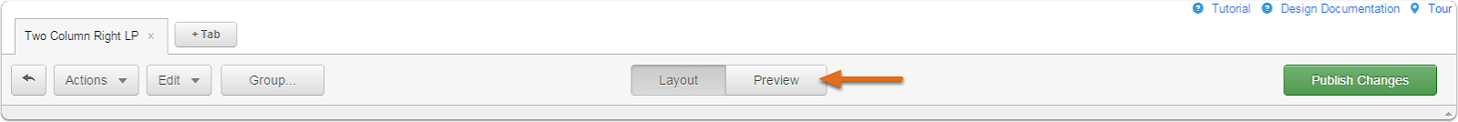 Preview template button