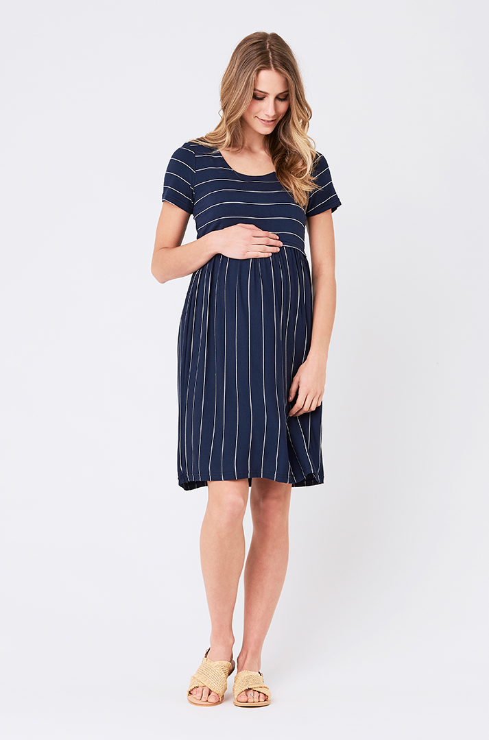 Some of our favorite blue baby shower dress styles have fun textures and  patterns that are subtle 87db79feb