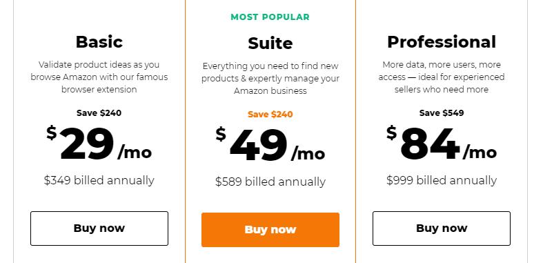 jungle scout regular pricing plan