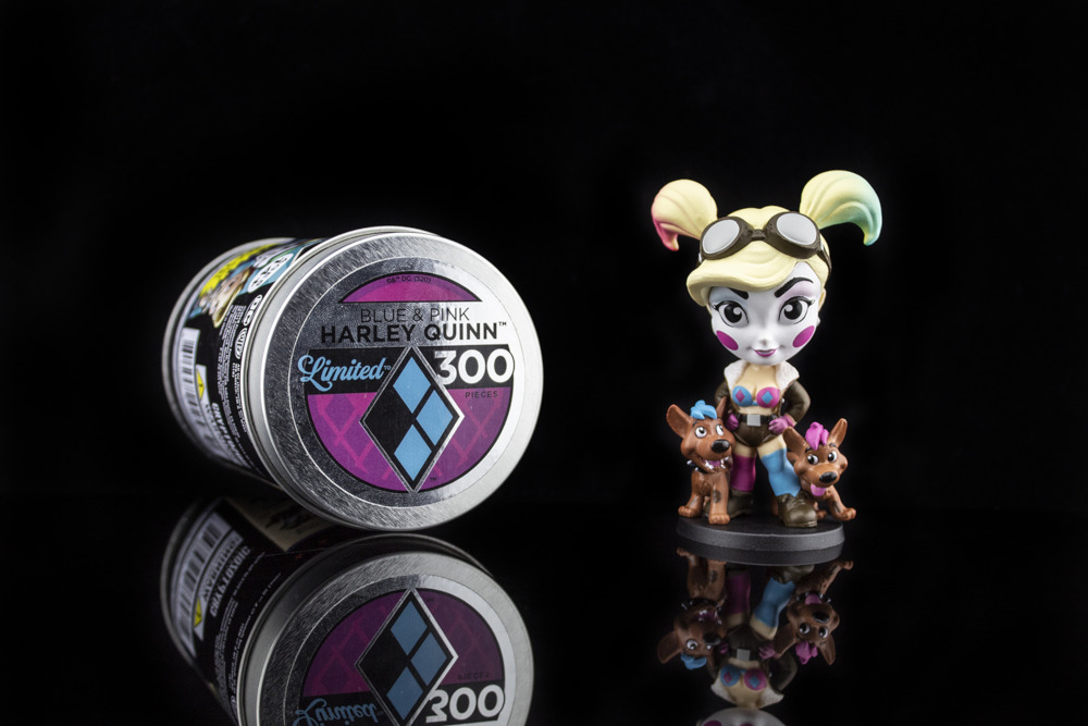 Blue & Pink Harley Quinn DC Lil Bombshells figure
