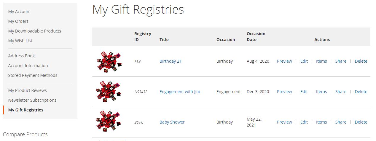 my gift registry