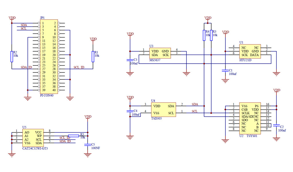 raspberry pi weathershield schematic