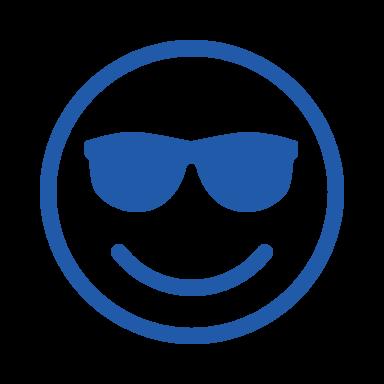 Sunglasses face outline