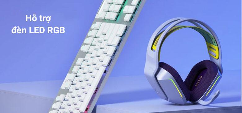 Tai nghe không dây gaming Logitech G733 K/DA | Hỗ trợ đèn LED