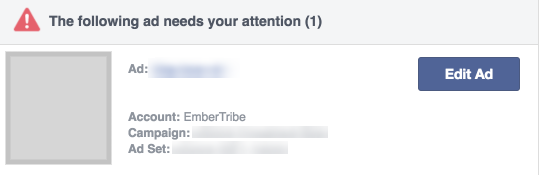 facebook ad disapproval