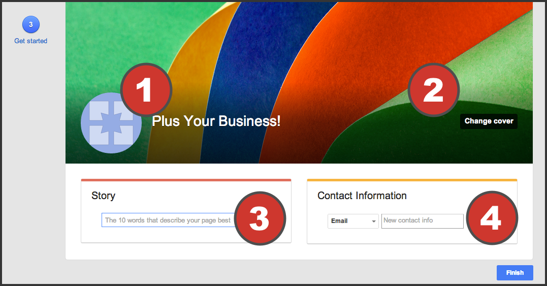 how to put your business on google plus