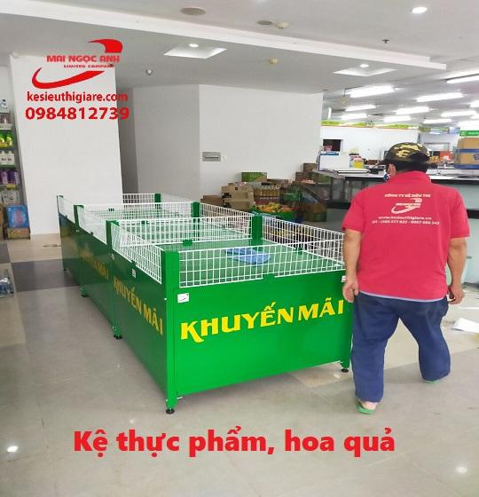 kệ siêu thị HCM dạng vuông để hoa quả, thực phẩm