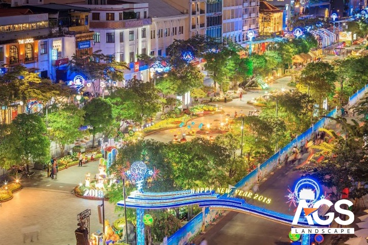 Công trình đường hoa Nguyễn Huệ gia tăng tính thẩm mỹ cho đường phố TPHCM