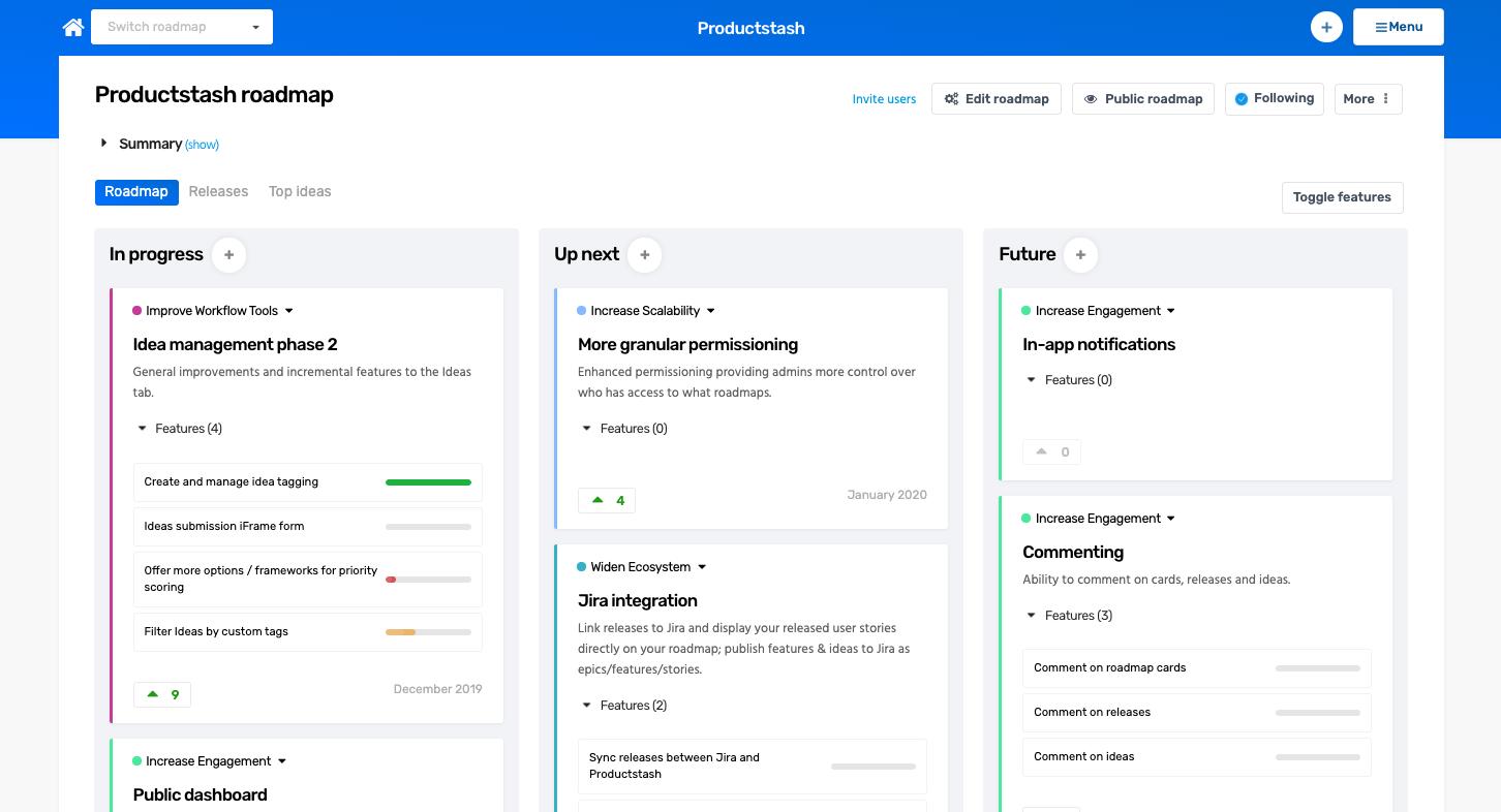 LoopedIn Product Roadmap Screenshot