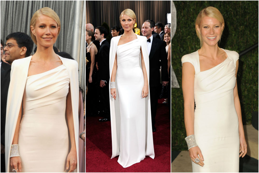 Gwyneth Paltrow in Tom Ford on the 2012 Oscars Self-importance Truthful Social gathering