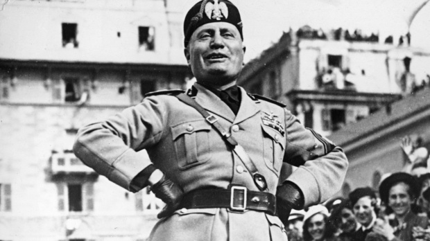 Mussolini shares slogan with Clinton