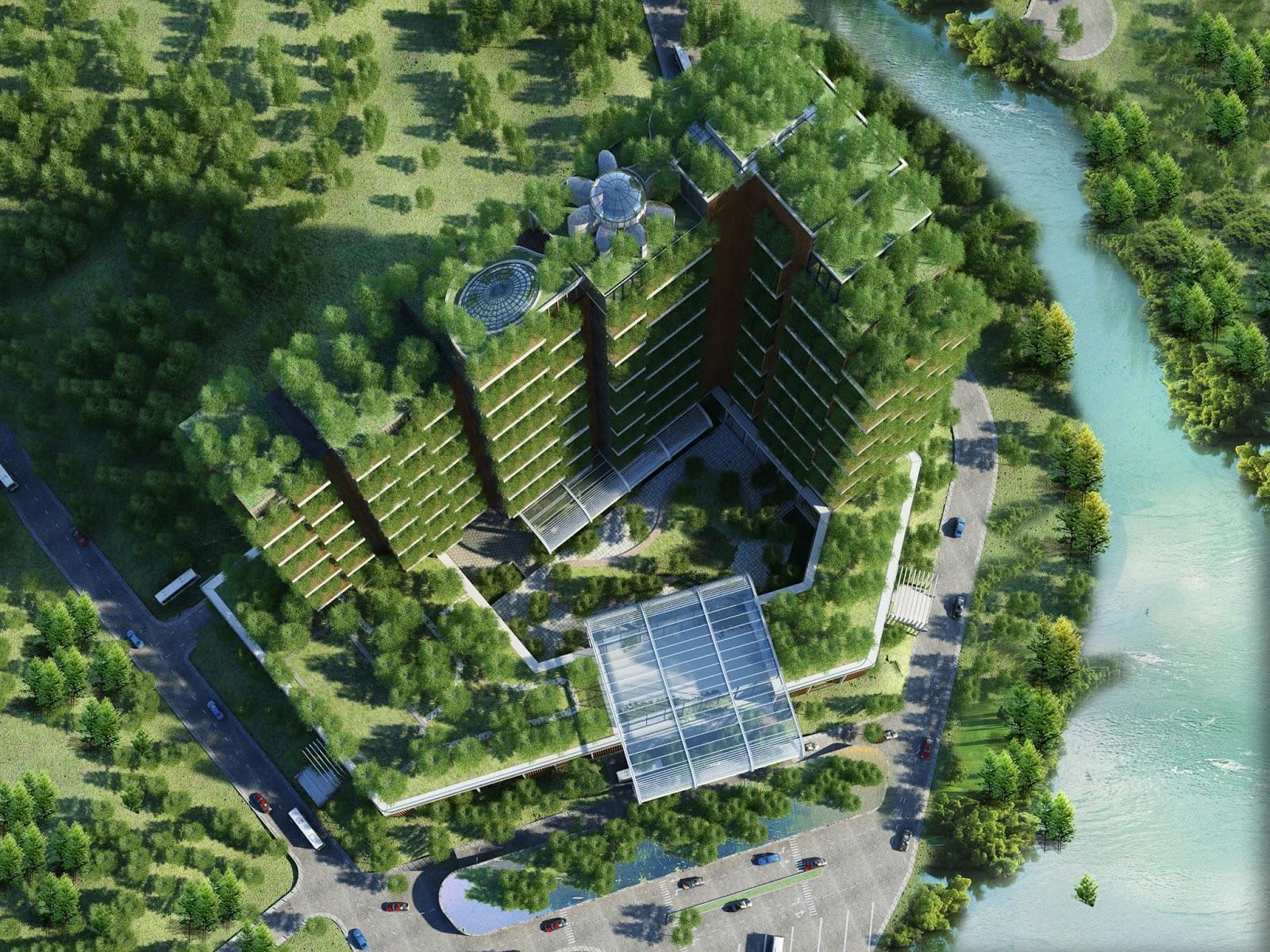 Iris Garden hay Forrest in the Sky là một trong số ít những công trình xanh nổi trội