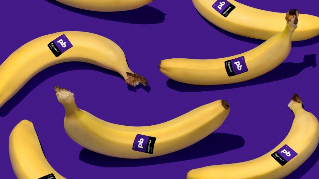 Pennington Biomedical Banana Sticker Label