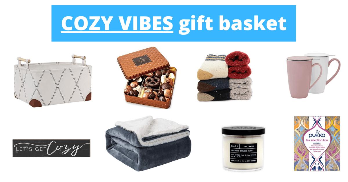 cozy vibes housewarming basket