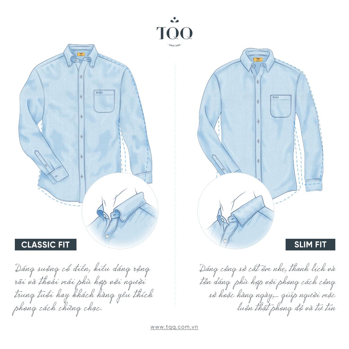 Classic Fit và Slimfit là 2 dáng áo phù hợp nhất với quý ông tuổi trung niên