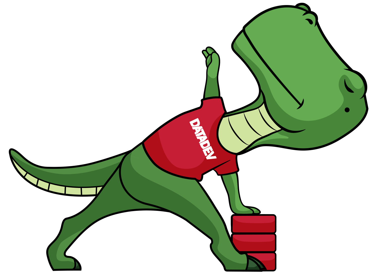 DataDev mascot, Flex the T-Rex