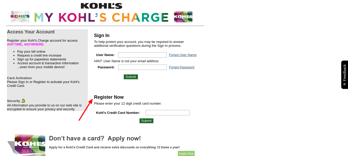 Kohl's Credit Card  Activation Process One by One 5