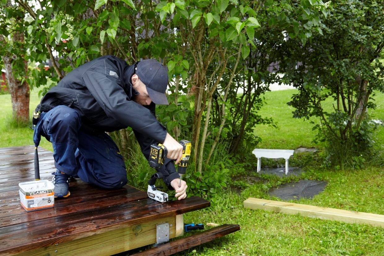 hvordan bygge terrasse selv