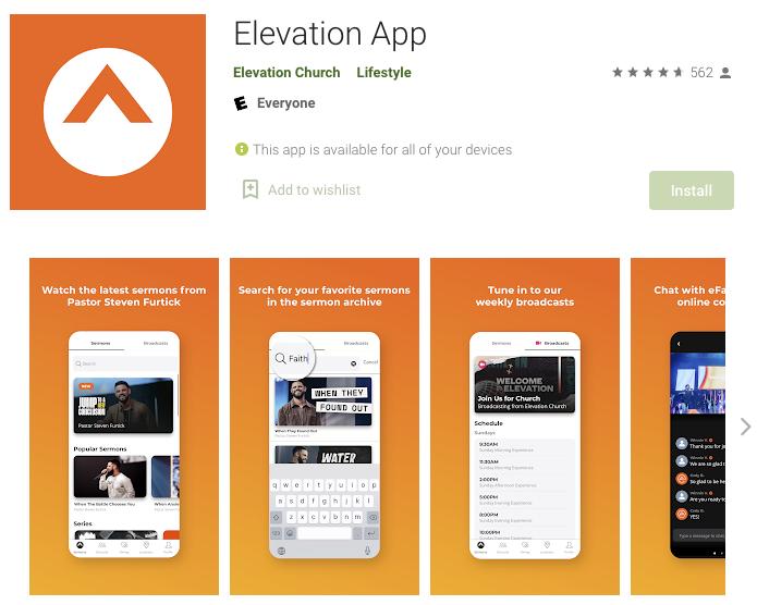 Elevation Church App Screenshot