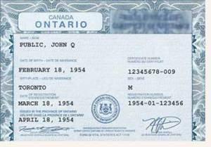 Canadian Passport Application