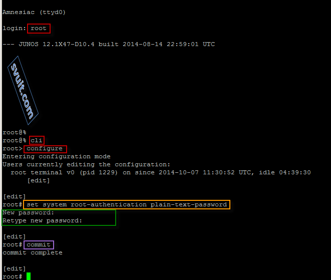 Tìm hiểu cấu hình mặc định Juniper SRX