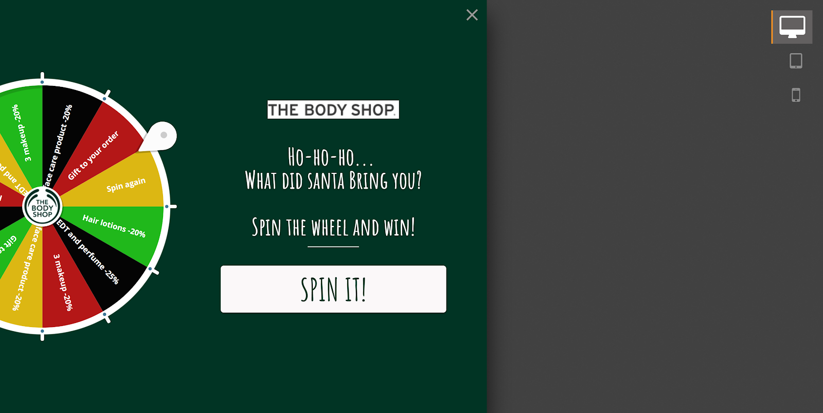 Entice your visitors with interactive, gamified popups