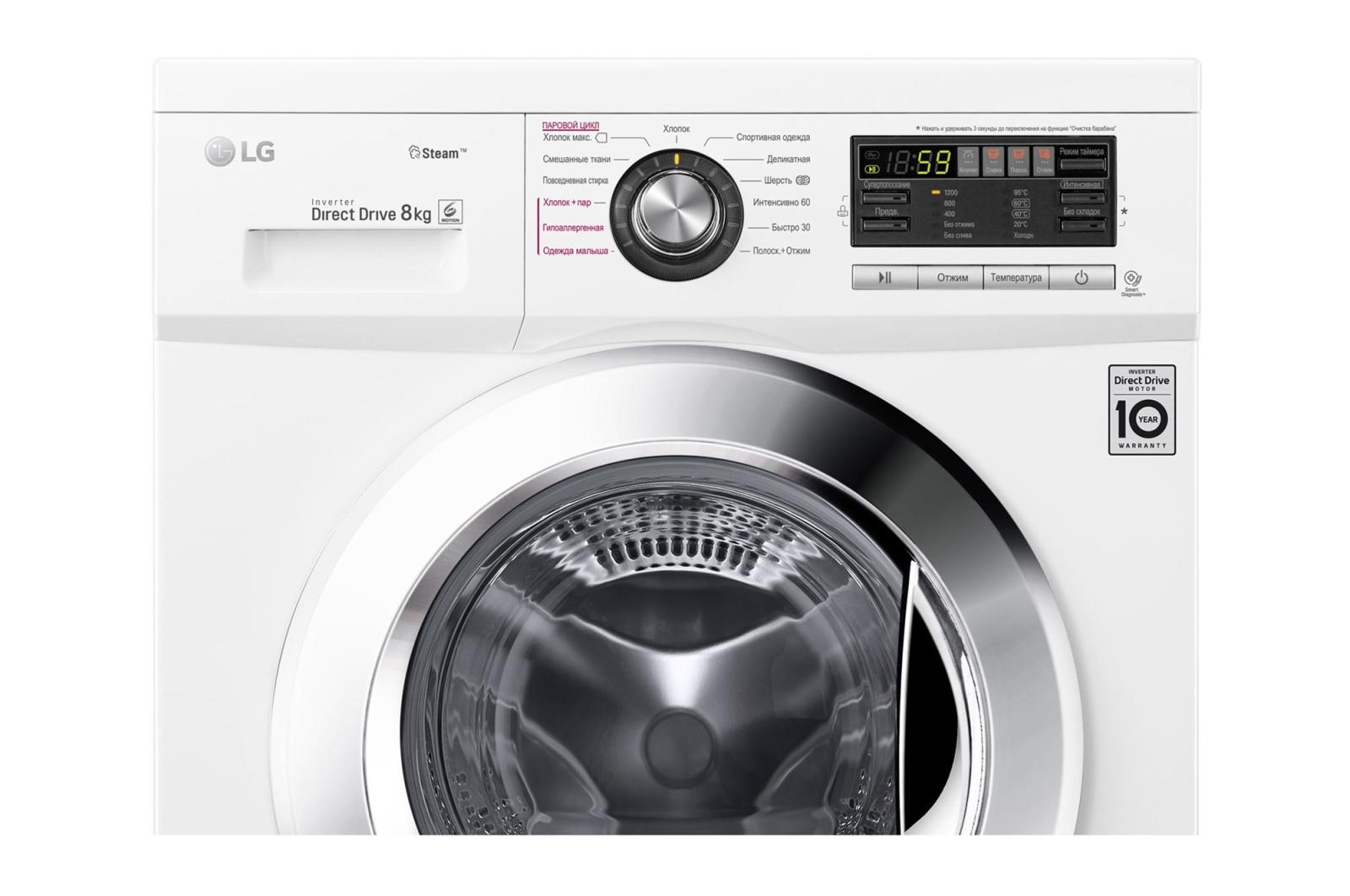 код ошибки uE стиральная машина LG