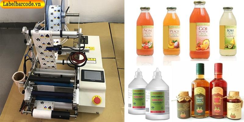 Máy dán nhãn bán tự động chai tròn 2 mặt tiện ích, giá rẻ phù hợp cho các doanh nghiệp mô hình sản xuất nhỏ
