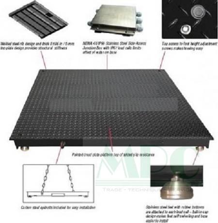 Một mẫu cân sàn điện tử chính hãng Amcells của Minh Phúc
