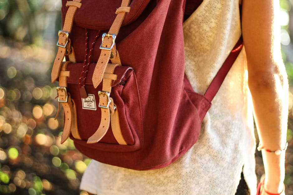 Red Leather Satchel Backpack