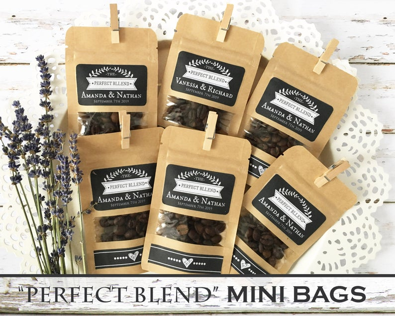 Wedding favour - personalised coffee bags