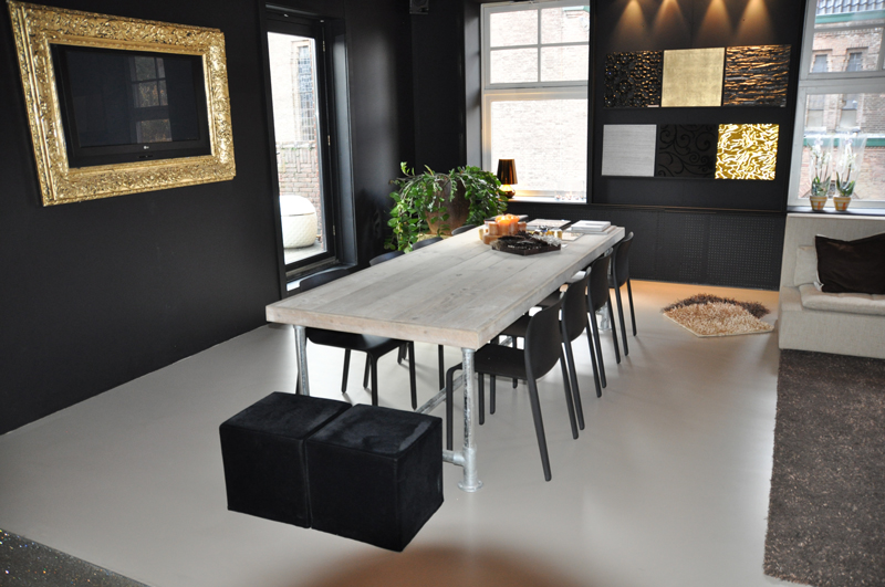 Steigerbuis Tafel Onderstel : Exotische steigerbuis tafel cmk joinery