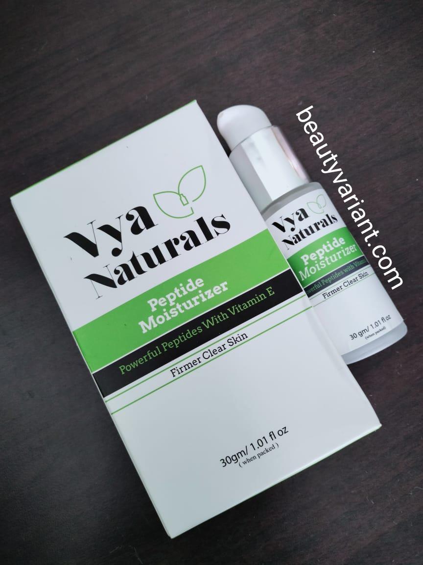 Vya naturals peptide moisturizer review