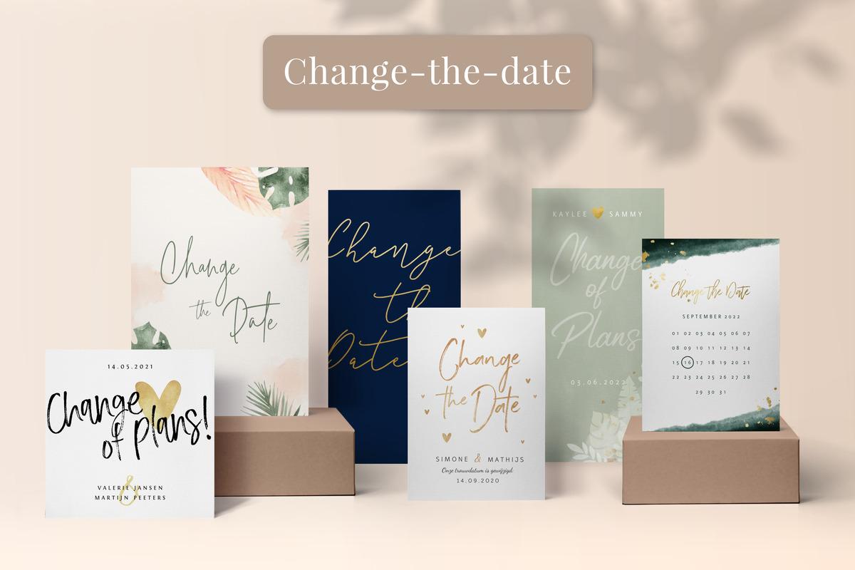 Hochzeitskartentrends change the date